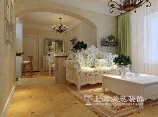 鑫苑景园89平两室两厅田园风格装修效果图--客餐厅,89平,8万,田园,两居,
