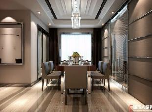西安城市人家装饰公司│现代奢华180㎡四居室样板间,180平,20万,现代,四居,餐厅,简约,