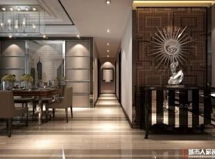 西安城市人家装饰公司│现代奢华180㎡四居室样板间,180平,20万,现代,四居,餐厅,日式,