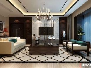 西安城市人家装饰公司│水岸东方170㎡四居室新中式风格样板间,170平,19万,中式,四居,