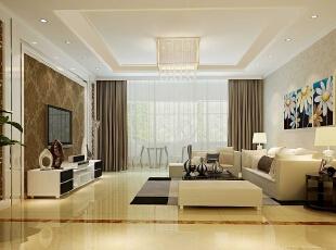 现代设计追求的是空间的实用性和灵活性。空间的利用率达到最高。简洁和实用是现代简约风格的基本特点。简约风格已经大行其道几年了,仍然保持很猛的势头,这是因为人们装修时总希望在经济、实用、舒适的同时,体现一定的文化品味。而简约风格不仅注重居室的实用性,而且还体现出了工业化社会生活的精致与个性,符合现代人的生活品位。本案风格简洁大气,木色生香,适合节奏生活快速的都市人。,5万,现代,三居,客厅,