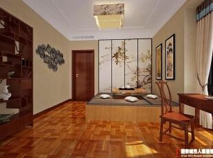 西安城市人家装饰公司│曲江诸子阶156㎡中式风格样板间效果,156平,7万,中式,三居,