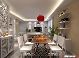 西安城市人家装饰公司│中国铁建国际城127㎡宜家家居装饰效果,127平,6万,现代,三居,