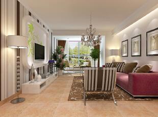 客厅的装配颜色是根据业主的需求可以条换的,104平,11万,现代,两居,拉斐小镇,