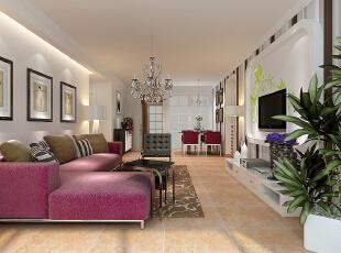 沙发用的红颜色 是不是特别有活力和朝气啊,104平,11万,现代,两居,石家庄拉斐小镇,