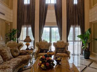 ,383平,75万,欧式,别墅,客厅,