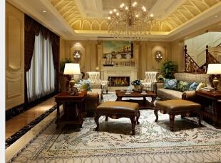 淡淡欧式华贵之美,陈安丽Design,180平,30万,混搭,三居,客厅,宜家,欧式,