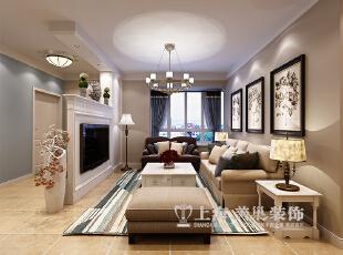 郑州紫薇小区130平客厅装修效果图,电视背景墙和鞋柜采用木工一气呵成,是整个设计的亮点,半高的造型通透而又灵活,简单的勾缝造型凸显风格。,客厅,北欧,电视背景墙,窗帘,沙发,