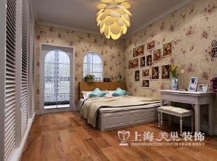 紫薇小区三室两厅130平北欧风格装修案例——卧室装修效果图,130平,三居,卧室,田园,信息工程学院,