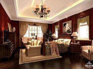 卧室,300平,200万,美式,别墅,