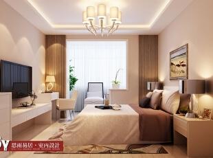 卧室全景图,60平,5万,现代,两居,