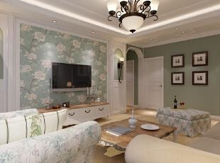 客厅,139平,14万,现代,三居,C区A户型139平米,现代简约装修案例,