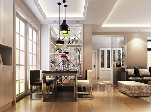 普罗旺世1号楼88平3室2厅现代简约风格装修案例-餐厅效果图,88平,6万,现代,三居,餐厅,
