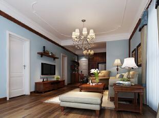 现代设计追求的是空间的实用性和灵活性。空间的利用率达到最高。简洁和实用是现代简约风格的基本特点。简约风格已经大行其道几年了,仍然保持很猛的势头,这是因为人们装修时总希望在经济、实用、舒适的同时,体现一定的文化品味。而简约风格不仅注重居室的实用性,而且还体现出了工业化社会生活的精致与个性,符合现代人的生活品位。本案风格简洁大气,木色生香,适合节奏生活快速的都市人。,150平,5万,现代,三居,客厅,