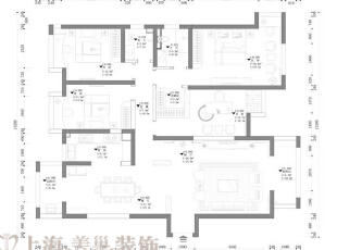 郑州金域上郡180平四室两厅混搭风格——平面设计方案,180平,15万,混搭,四居,
