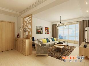 选用自然的原木色家具,配上浅灰色的家具打造舒适自然的环境。,97平,8万,清新,两居,玄关,