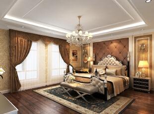 主卧,古典奢华,体现主人身份,387平,85万,欧式,别墅,卧室,