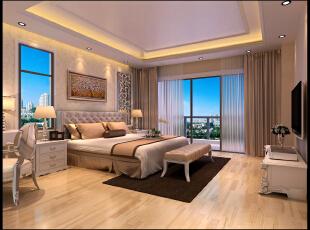 简洁,明快,不以过多复杂的装饰去修饰,轻装修重装饰,180平,25万,欧式,四居,卧室,简约,