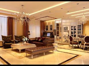 简洁,明快,不以过多复杂的装饰去修饰,轻装修重装饰,180平,25万,欧式,四居,客厅,简约,白色,