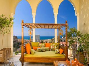 ,地中海风情,阳台,