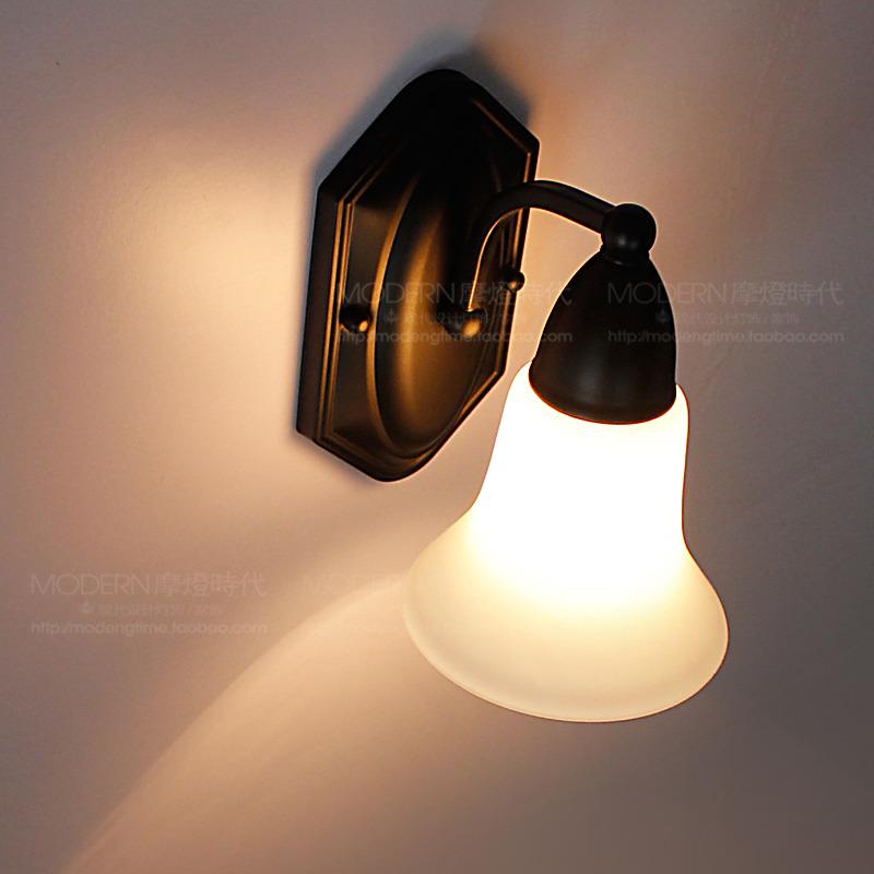 分区包邮美式乡村风格铁艺单头壁灯具床头背景墙单头壁灯镜前壁灯图片