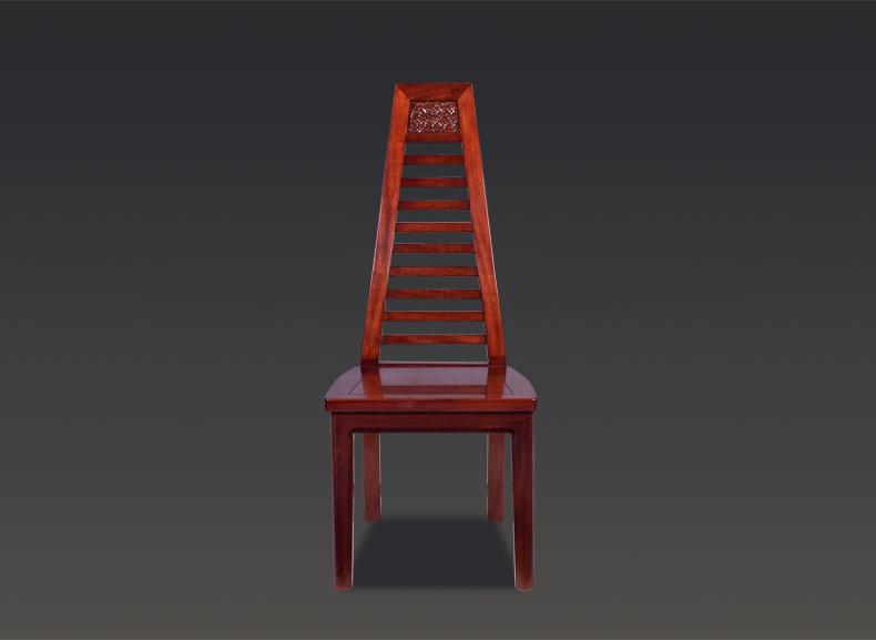宝居乐阑廷苑新中式桃花芯实木高靠背餐椅新款餐厅家具TL615
