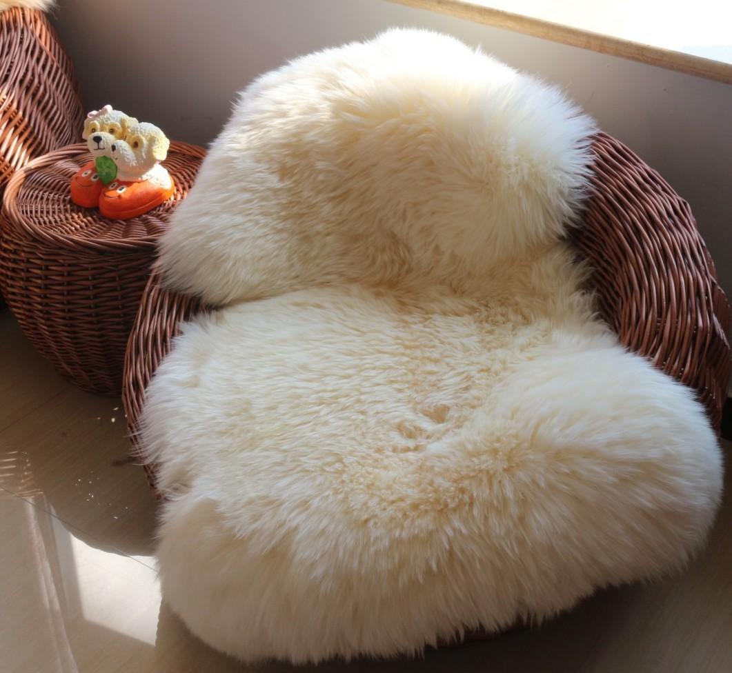 澳洲纯羊毛地毯 白色沙发垫 沙发毯床边毯卧室地毯飘窗毯支持定做