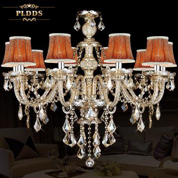客厅简约蜡烛水晶吊灯欧式灯奢华现代简欧新古典卧室灯具餐厅灯饰图片