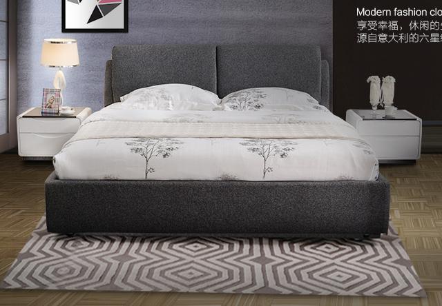 尚驰 高档可拆洗 布床双人小户型 1.8 米