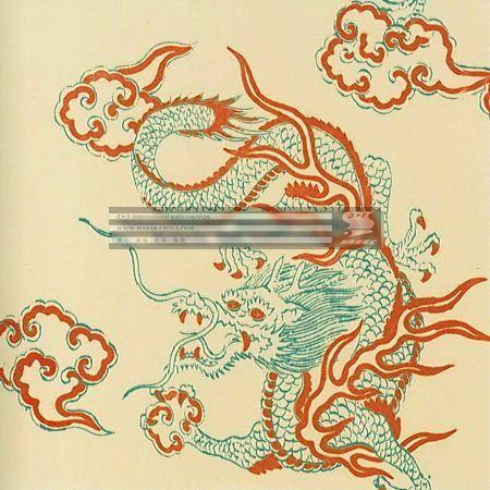 欧洲原装进口壁纸 新中式风格墙纸 中国龙纹图案 etf2图片