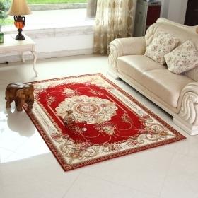 传统中式风格客厅茶几地毯  易打理可机洗