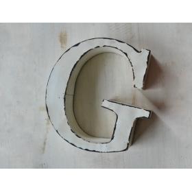 尚森 铁质做旧壁饰 大写字母 做旧白色 26个字母可选