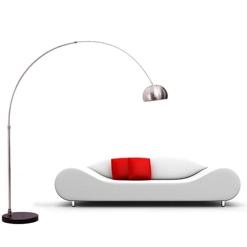 钓鱼灯落地灯宜家欧式客厅卧室书房灯创意麻将灯遥控不锈钢台灯饰