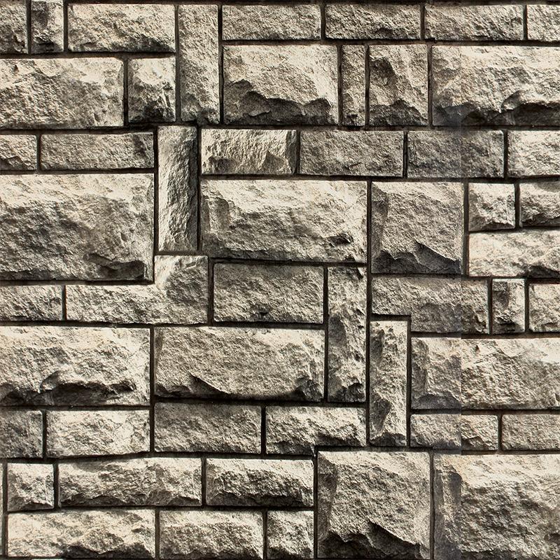 中式古典壁纸 高档pvc墙纸 客厅走道背景墙 立体仿石头砖纹石块图片