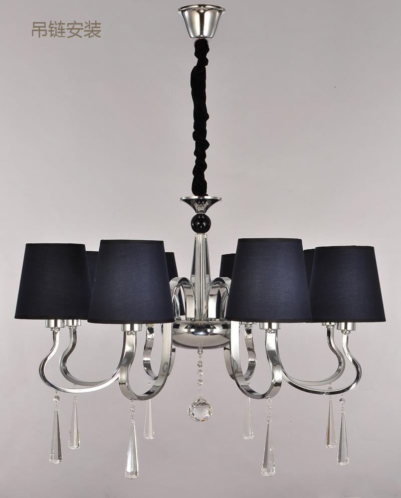 欧式简约后现代客厅吊灯复式别墅水晶灯餐厅蓝色北欧宜家具8097/8图片