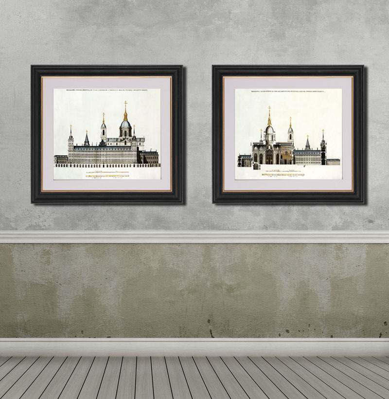 欧式黑白名建筑挂画 现代客厅简约装饰画图片