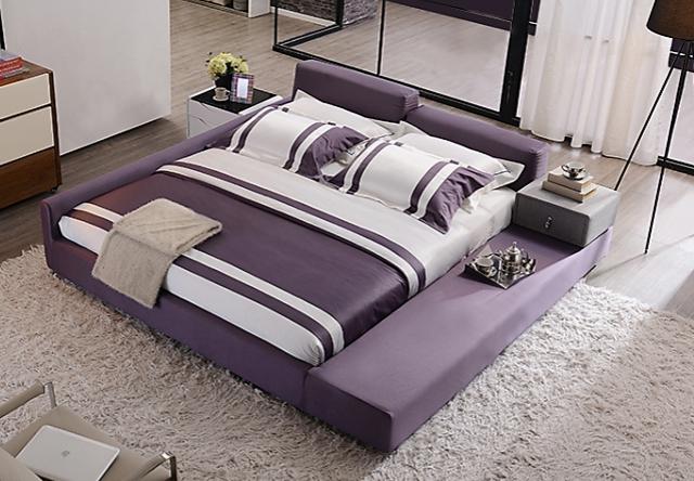 尚驰 1.5米床 可拆洗布艺床 双人床