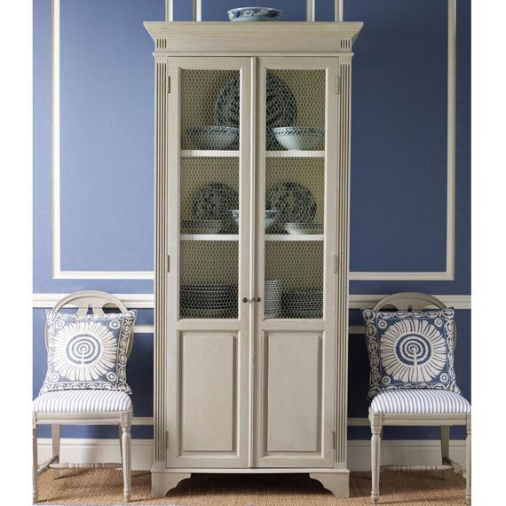 美式法式 复古白色田园欧式碗柜 餐边柜 实木柜子 储物图片
