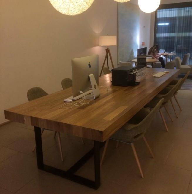定制 LOFT实木家具原木复古铁艺餐桌书桌美式乡村北欧风情电脑桌写字台