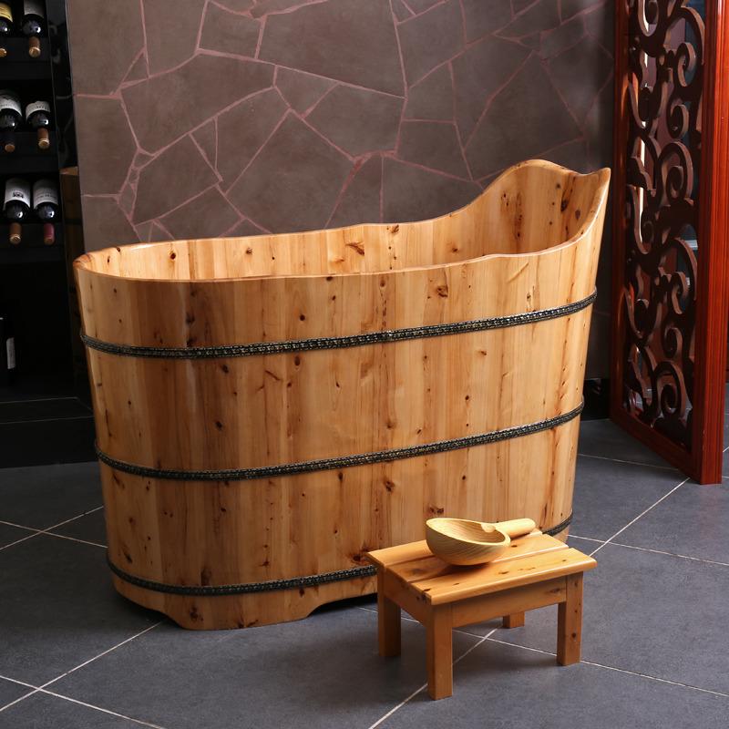 悦己坊新品香柏木桶泡澡桶沐浴桶成人浴桶洗澡木桶浴盆bd7020
