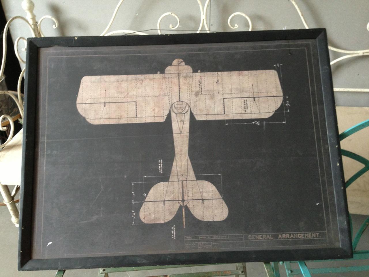 14MW058-2-11美式复古飞机图案装饰画(套二)