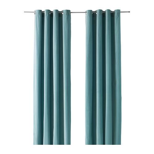 宜室宜家★桑尼拉 窗帘2片装, 浅青绿色★广州宜家代购IKEA
