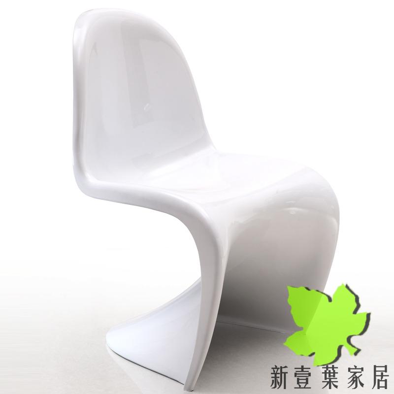 特价宜家塑料欧式餐椅 白色潘东椅休闲电脑椅 时尚简约创意S椅