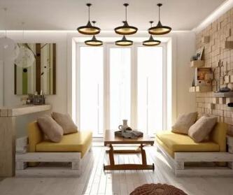 45平米暖黄色家居