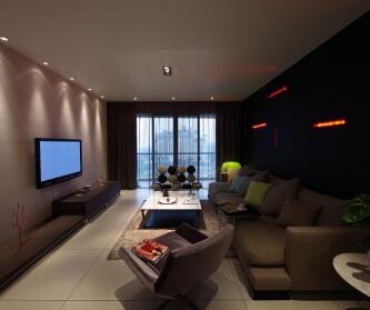 108平现代简约三居室