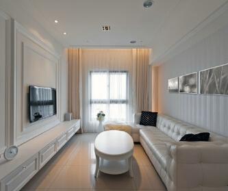 三房两厅简洁舒适三口之家