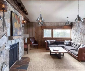 设计的全木质打造的别墅