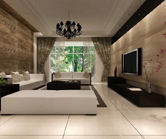 125平现代温馨三居室
