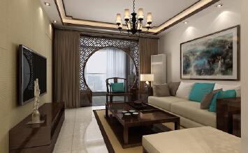 两居室新中式风格装修...