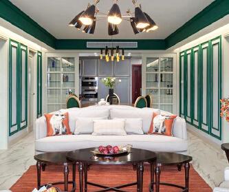 180平美式风格三室两厅...